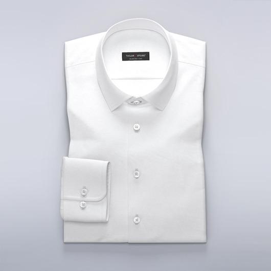 Luksuriøs businessskjorte i hvid dobbyvævning