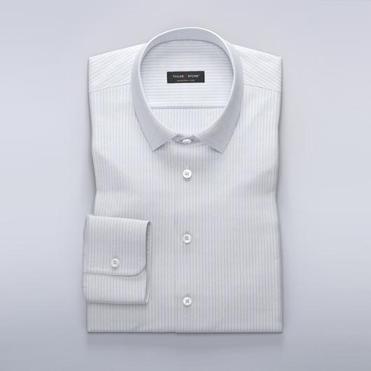 Business overhemd met smalle lichtblauwe strepen