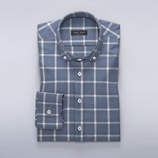 Rutig blå skjorta