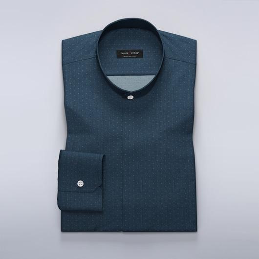 Dark navy dress shirt with chevron pattern<br>