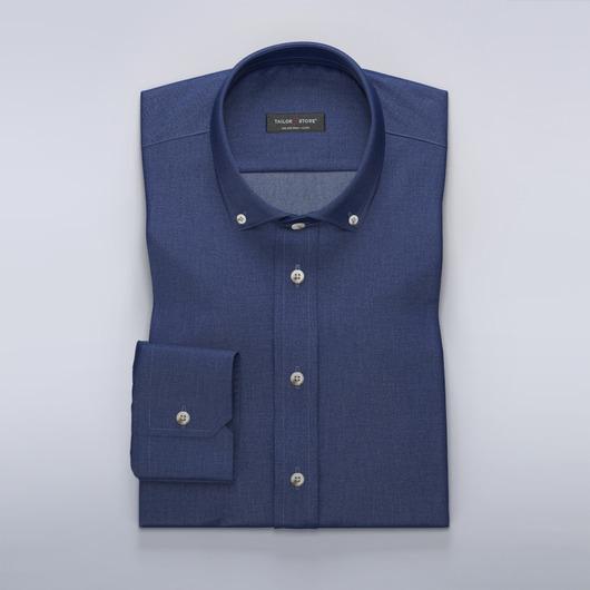 Mørkeblå dresskjortemed moderne krage