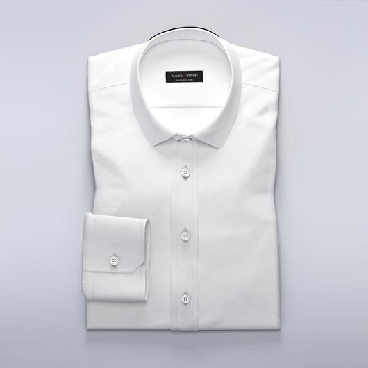 White business dress shirt in wool blend