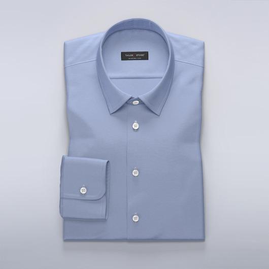 Blue cotton satin shirt
