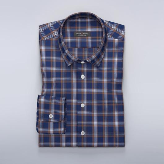 Ledig rutig skjorta med navy bakgrund