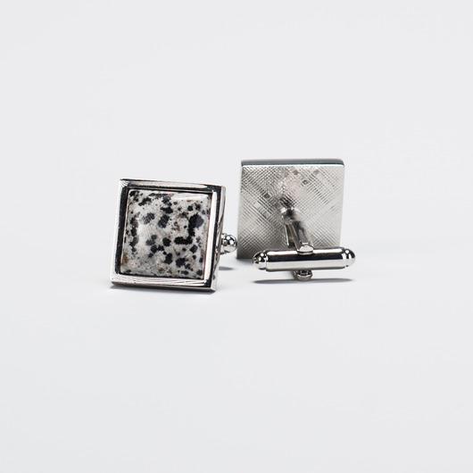 Manschettenknöpfe mit gesprenkeltem Stein