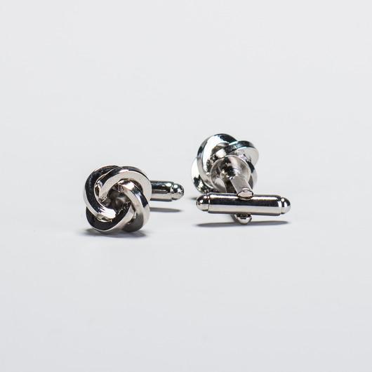 Manschettknappar knut i silver