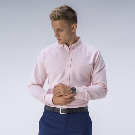 Lichtoranje Oxford overhemd