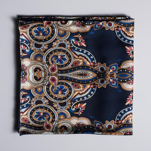 Paisley-kuvioitu silkkihuivi