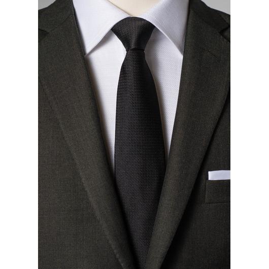 Zwarte zijden stropdas