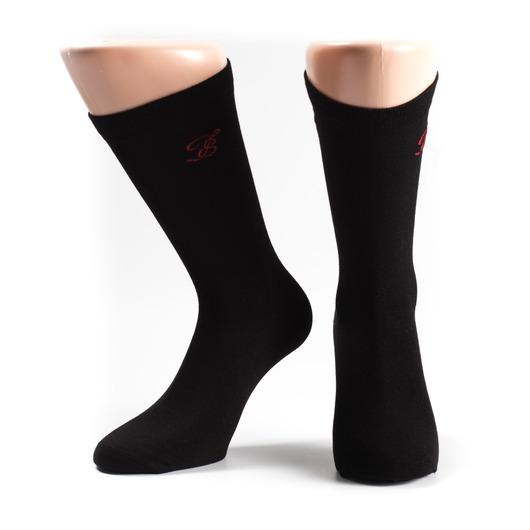 Schwarze Socken, 3er Pack