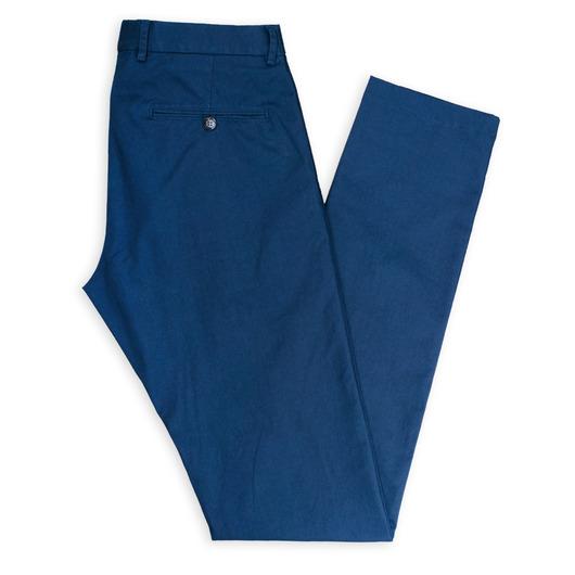 Chino bleu foncé sur mesure et stretch