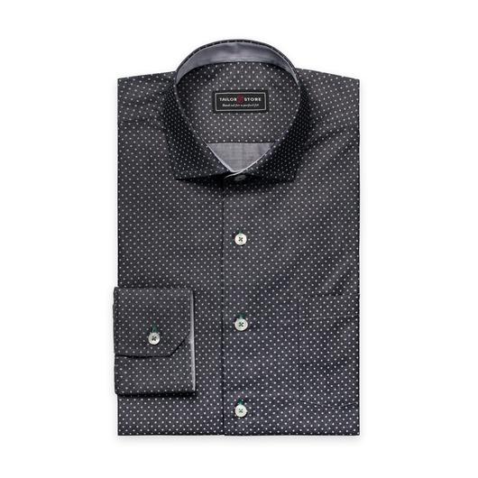 Chemise en chambray à pois Noir/Blanc