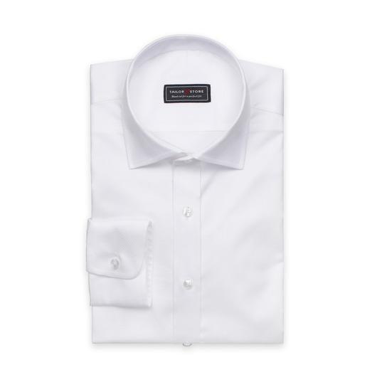 Hvit skjorte i dobbyvevd bomull