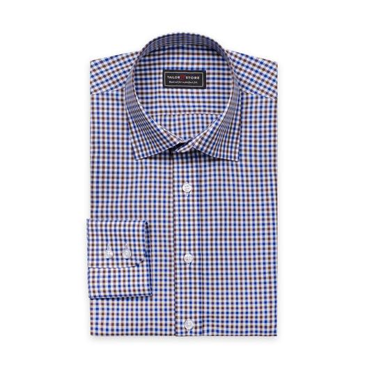 Brun/Blårutete skjorte