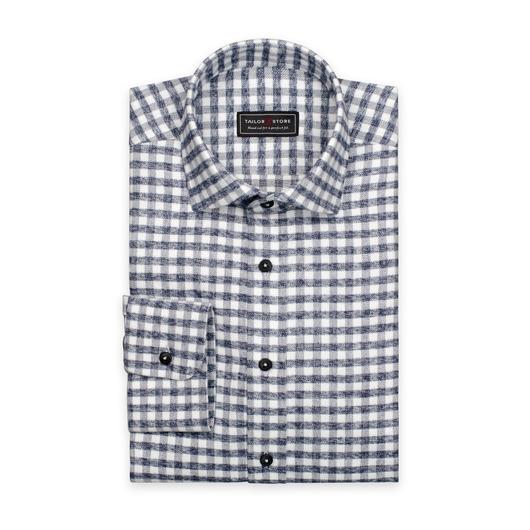Svart/vitrutig flanellskjorta