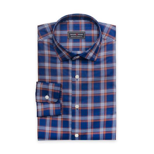 Chemise en bleu marine à carreaux décontractée
