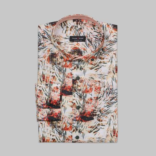 Limited edition, multifarvet hørskjorte