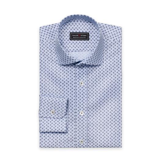 Mönstrad bomullsskjorta med cut-away classic krage