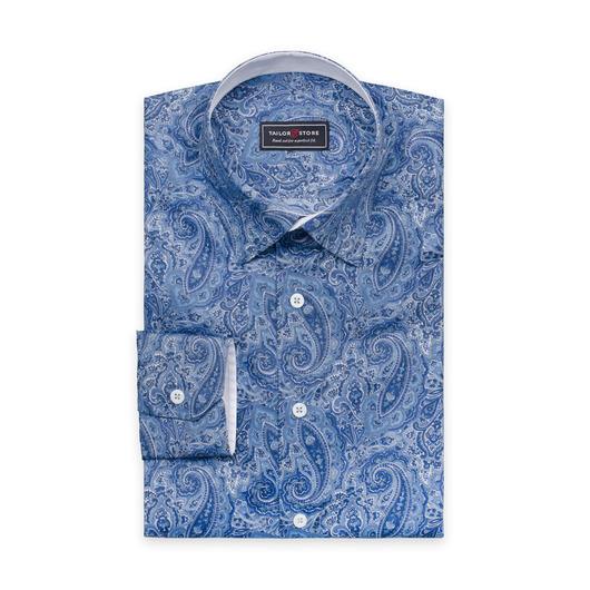 Skjorta i blå paisley