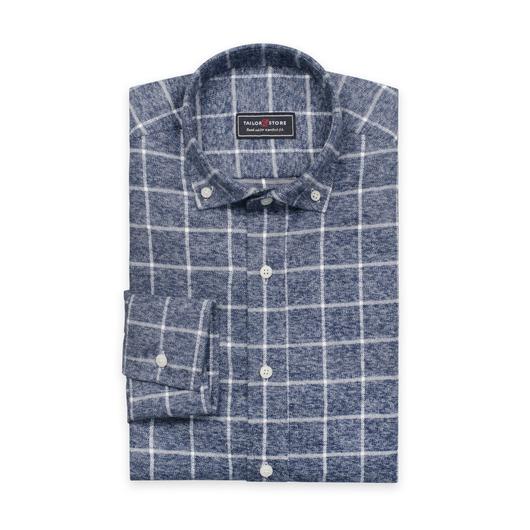 Szara, flanelowa koszula z grubego i ciepłego materiału