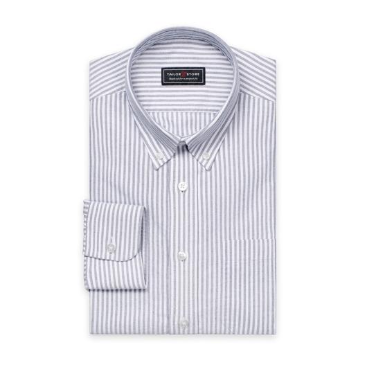 Valkoinen/Mustaraidallinen Oxford-paita