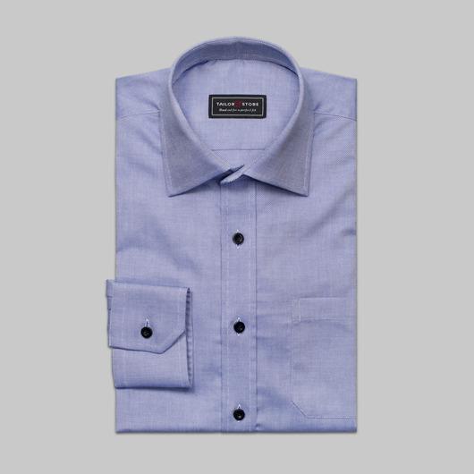 Skjorta i blå fransk oxford