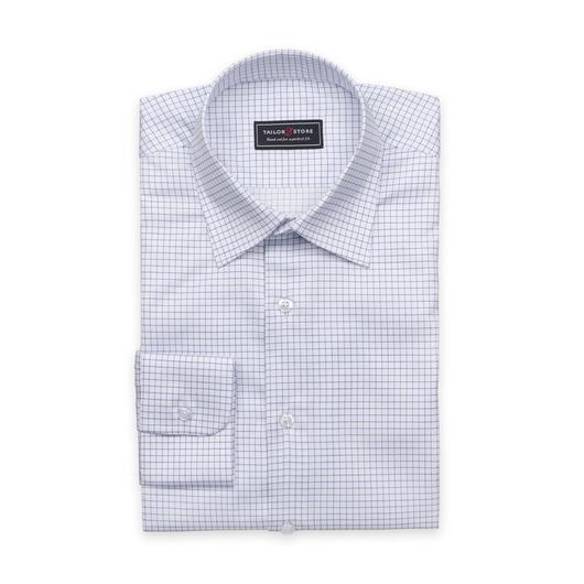 Weißes Hemd mit kleinen Karos