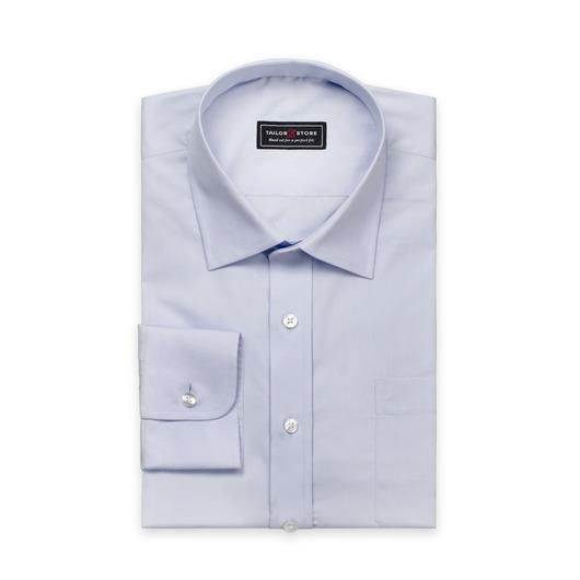 Lichtblauw poplin overhemd met business kraag
