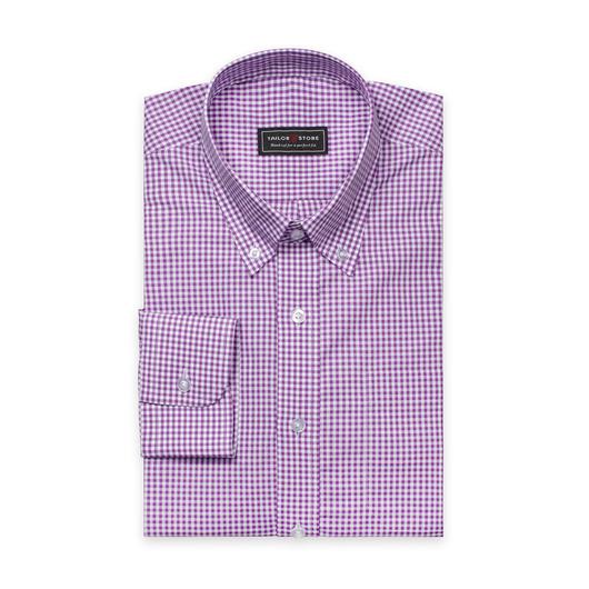 White/Purple checked shirt