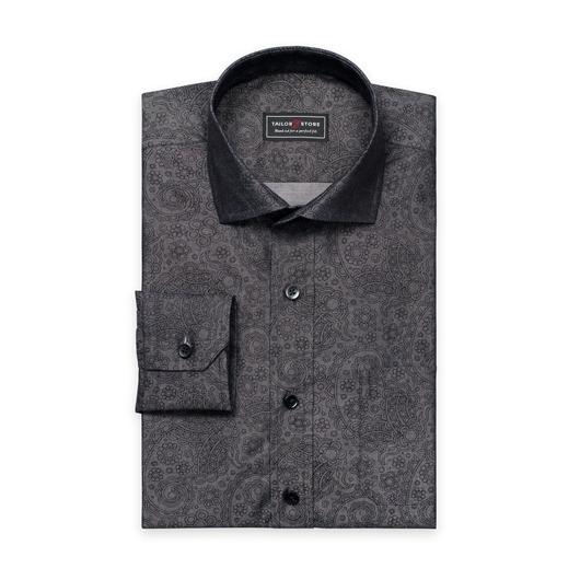 Black/Gray patterned twill shirt