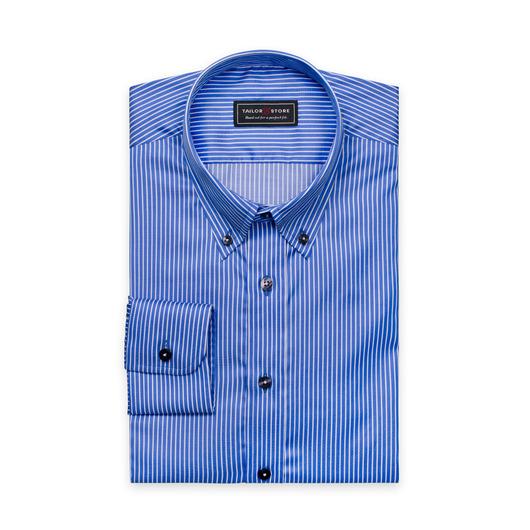 Chemise rayée en twill Bleu/Blanc