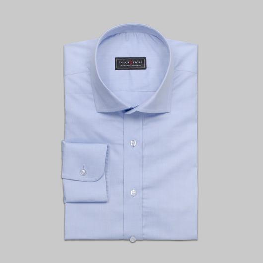 Lyseblå cut-away classic-skjorte i bomull