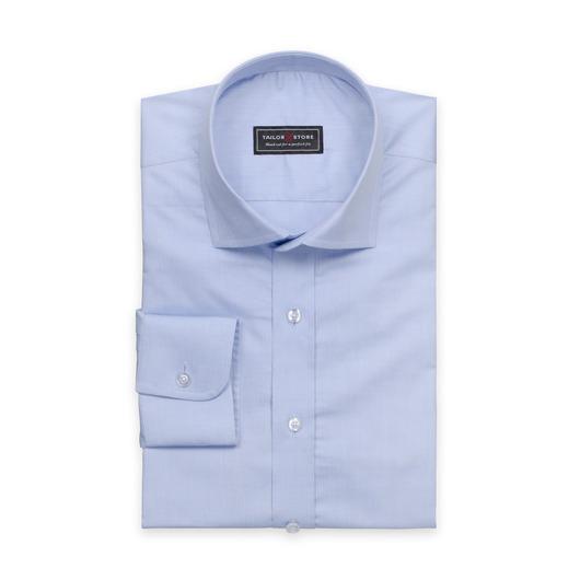 Błękitna bawełniana koszula cut away classic