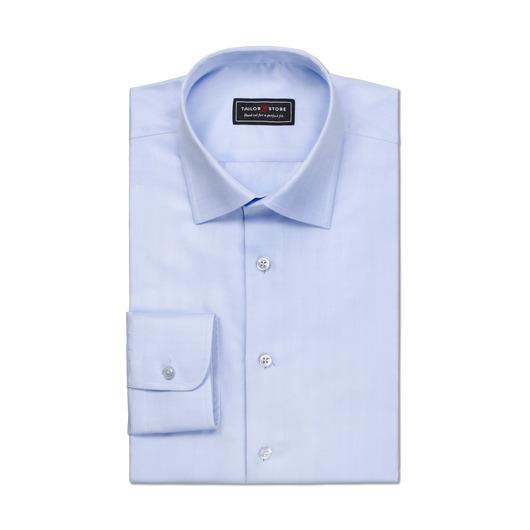 Hellblaues Fischgräten Hemd