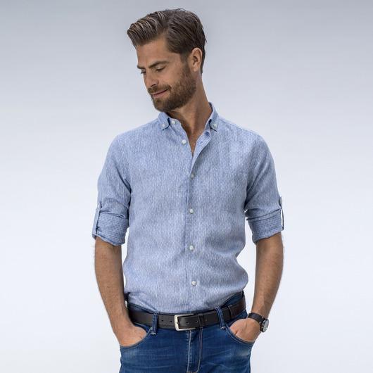 Elegant ljusblå linneskjorta
