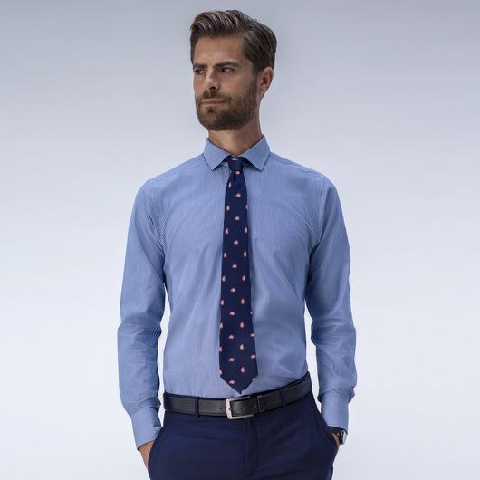Klassisk blå dresskjorte med striper