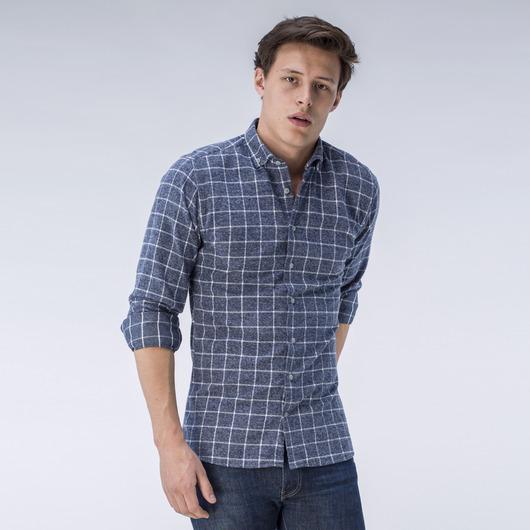 Grå flanellskjorta med rutor
