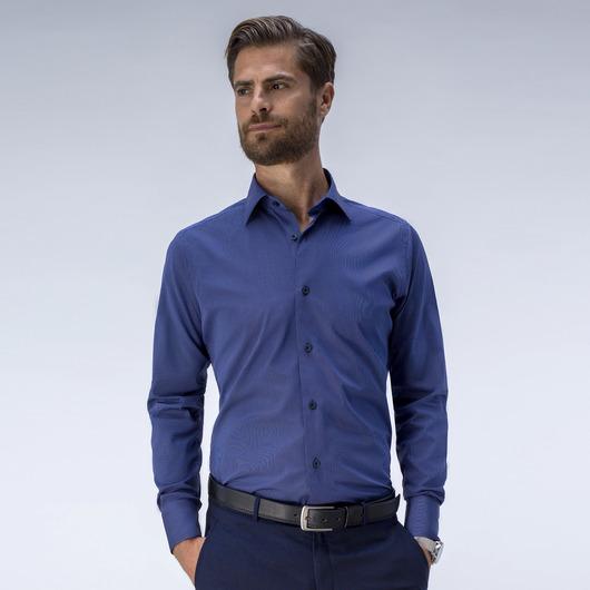 Striped blue dress shirt<br>