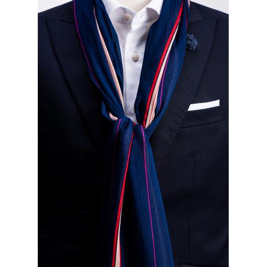 Striped viscose scarf