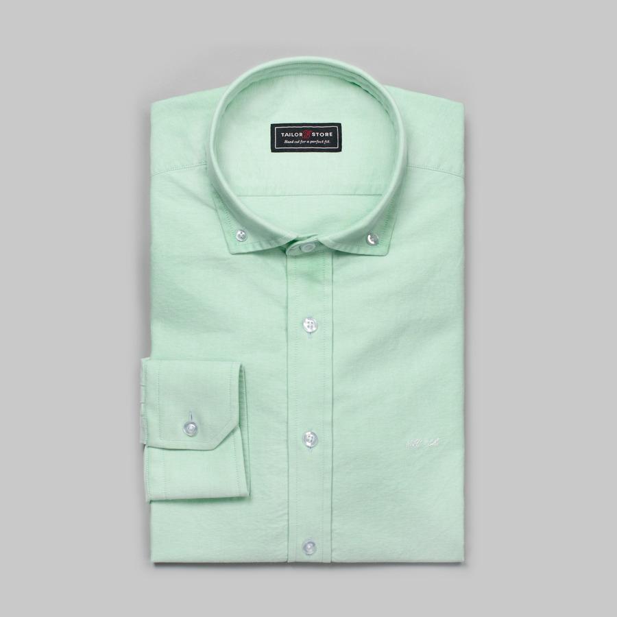 Green button down oxford shirt - Green button ...